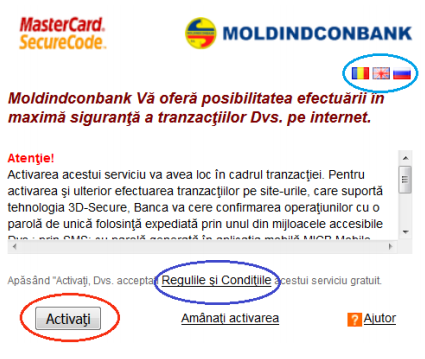 Siguranta tranzactiei Moldindconbank